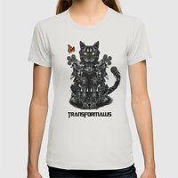 Transformaws Womens Fitted Tee Silver SMALL