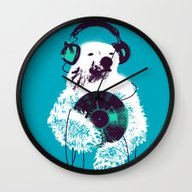 Record Bear Wall Clock