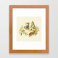 Critters: Summer Gardeni… Framed Art Print