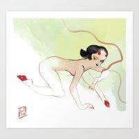 Burn Red Art Print