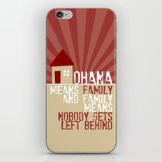 Ohana Means Family - Lilo & Stitch iPhone & iPod Skin