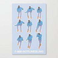 Hotline Bling (blue) Canvas Print