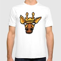 King Giraffe Mens Fitted Tee White SMALL