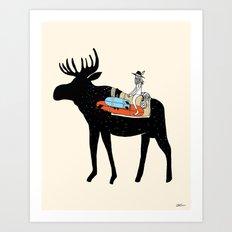 Surfari Art Print