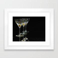 Three Martini's and three olives.  Framed Art Print