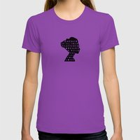 silhouette - scattered dreams Womens Fitted Tee Ultraviolet SMALL