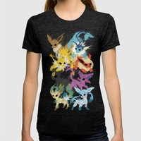 Eeveelutions Womens Fitted Tee Tri-Black SMALL