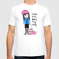 Love Me Mens Fitted Tee White SMALL