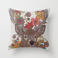 Hello my Deer Throw Pillow