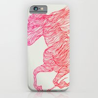 horse iPhone & iPod Cases featuring Horse by Huebucket