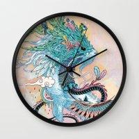 Journeying Spirit (ermine) Wall Clock