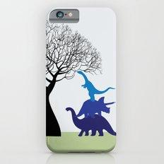 Dinosaur tower iPhone 6 Slim Case