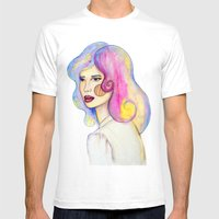 Locks Of Color Mens Fitted Tee White SMALL