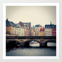 Frederiksholms Kanal Art Print