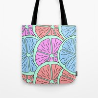 Spinning Citrus Tote Bag