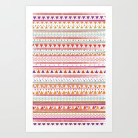 NATIVE BANDANA Art Print