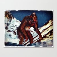 Bigfoot is Real Canvas Print