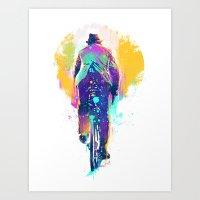 GO BIKE Art Print