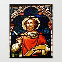Saintly Glass Canvas Print