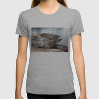 Fish Boat Womens Fitted Tee Athletic Grey SMALL