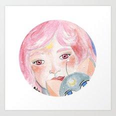 Chibi Moon Art Print