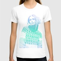 Winter Blue Womens Fitted Tee White SMALL