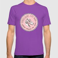 Dinosaurs eat man, woman inherits the earth Mens Fitted Tee Ultraviolet SMALL