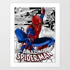 Spider-Man Comic Art Print