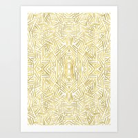 Radiate - Gold Art Print