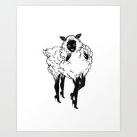 Creep Sheep Art Print