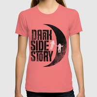 Dark Side Story Womens Fitted Tee Pomegranate SMALL