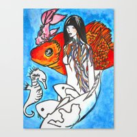 The Sea King's Daughter Canvas Print