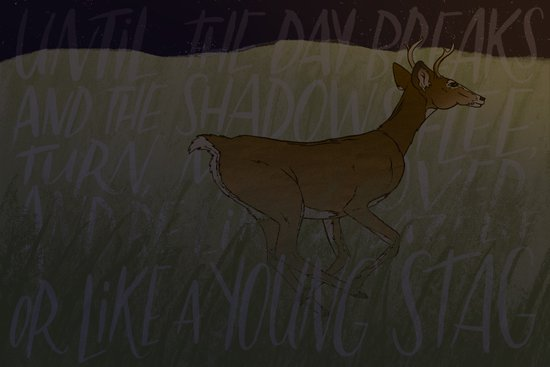 Like a Young Stag  Art Print
