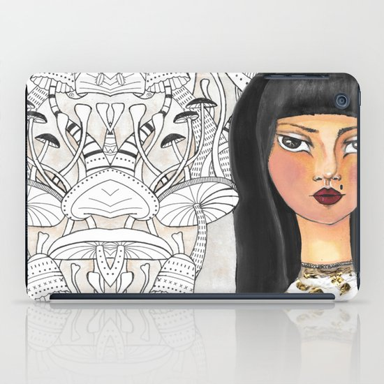 The girl with the red lips iPad Case