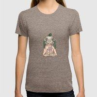 Long Live The Dead - Owl Womens Fitted Tee Tri-Coffee SMALL