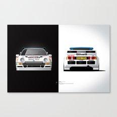 Group B Edition, N.º4, Ford RS200 Canvas Print