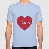 PARIS Mens Fitted Tee Athletic Blue SMALL