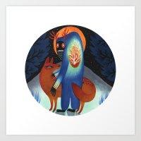 The Arctic Circle  Art Print