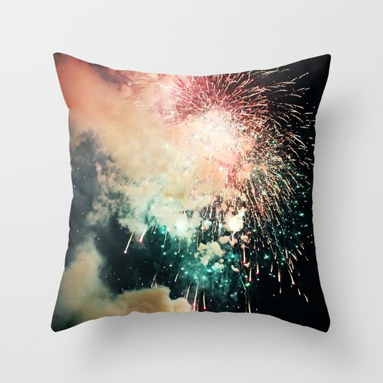 Bursts of light. Throw Pillow