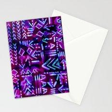 Tapa Tribal Purple Stationery Cards