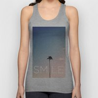 Palm Tree Smile Unisex Tank Top