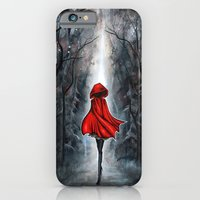 iPhone Cases featuring Little Red Riding Hood by Annya Kai