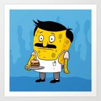 SpongeBob's Burgers Art Print