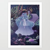 The Ghost Of The Lake Art Print