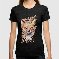 Happy Fox Womens Fitted Tee Tri-Black SMALL