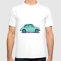 Fiat 500 Mens Fitted Tee White SMALL