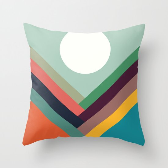 Rows of valleys Throw Pillow
