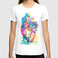 Andreae Vesalii Montage Womens Fitted Tee White LARGE