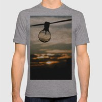 Unlit Sunset.  Mens Fitted Tee Athletic Grey SMALL