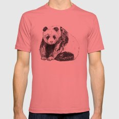 Panda Bear // Endangered Animals Mens Fitted Tee Pomegranate LARGE